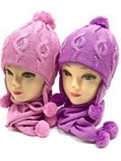 GRANS комплект A202 шапка двойная вязка+шарф (р.48-50)