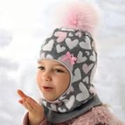 AJS шлем 36-359 подклад флис (р.50-52) розовые