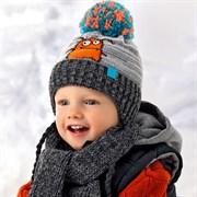.AJS комплект 36-347 шапка подкл.хлопок+шарф (р.46-48)