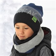.AJS комплект 36-431 шапка подкл.флис+снуд (р.52-54)
