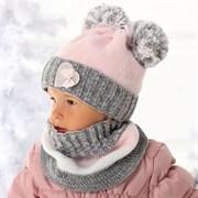 .AJS комплект 36-332/R шапка подкл.флис+снуд (р.48-50)