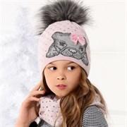 .AJS комплект 36-398 шапка подкл.флис+снуд (р.52-54)