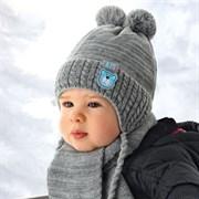 .AJS комплект 36-322 шапка подкл.флис + шарф (р.40-42)