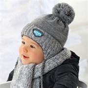 .AJS комплект 36-318 шапка подкл.флис + шарф (р.40-42)
