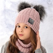 .AJS комплект 36-393 шапка подкл.флис+снуд (р.50-52)