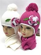 Magrof комплект KOD-872 шапка подкл.флис+шарф (р.44-46)