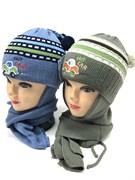GRANS комплект A289 шапка двойн.вязка + шарф (р.44-46)