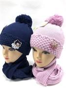 МегаШапка модель 5722 шапка с утепл.подкл.хлопок+шарф (р.48-50)