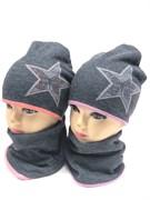 ambra комплект шапка с утеплителем + снуд (р.52-54) - звезда
