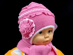 GRANS комплект K 203 шапка двойная вязка+шарф (р.44-46)