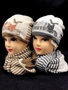 Barbaras комплект R 37/0A шапка двойн.вязк+шарф (р.50-52)