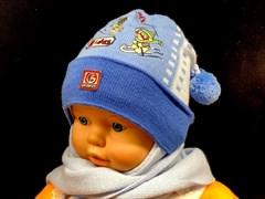 GRANS комплект A 454 шапка подкл.флис + шарф (р.42-44)