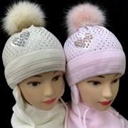 AGBO комплект 1748 OLIWIA шапка с утепл.подкл.хлопок+шарф (р46-48)