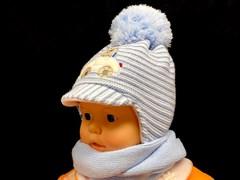 Magrof комплект KOD-819 шапка вязаная, подклад флис+шарф (р.42,44)