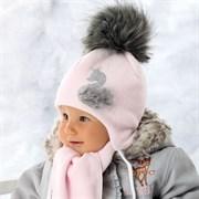 .AJS комплект 36-302 шапка флисовая + шарфик (р.38,40,42)