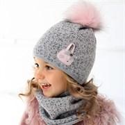 .AJS комплект 36-350 шапка подкл.флис+снуд (р.50-52)