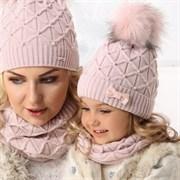 .AJS комплект 36-356 шапка подкл.флис+снуд (р.48-50) дочка