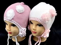 Aguti  шапка для девочки с завязками один.вязк. размер (50-52)