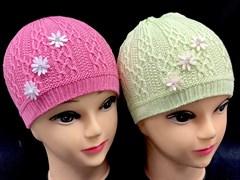 amal шапка одинарн.вязка (три цветка ) (р.48-50)