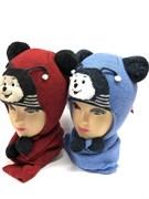 amal модель шапка с утеплителем + шарф (р.48-50)
