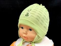 amal шапка одинарная вязка (р.44-46)бел,зел.