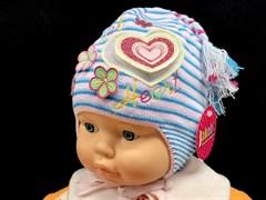 Jakob шапка двойная вязка хлопок (р.40-42) сердце