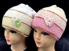AGBO шапка Jesein EX (сердечки) двойн.вязка (р.50-52)