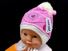 Jakob шапка подкладка флис (р.44-46) - сердце
