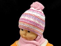 Politano комплект шапка двойн.вязк+шарф (р.40-42)