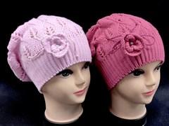 NAOMI шапка-берет ажурная вязка (р.50-52)