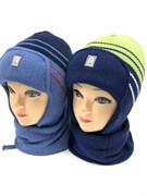 AGBO комплект 1315 ELWIS шапка подкл.флис + шарф (р.48-50)