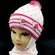 GRANS комплект A 512 шапка подкл.флис + шарф (р.42-44)