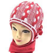 GRANS комплект M 202 шапка двойная вязка+шарф (р.46-48)