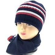GRANS комплект A 474 шапка подкл.флис+шарф (р.50-52)
