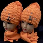 STING комплект: шапка двойная вязка + шарф (р.50-52)