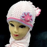 GRANS комплект A 406 шапка двойная вязка+шарф (р.44-46)