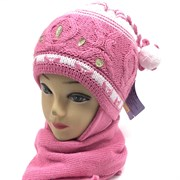 GRANS комплект A 498 шапка двойная вязка+шарф (р.44-46)