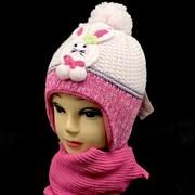 ambra комплект amb19 шапка подкл.флис+шарф (р.46-48)