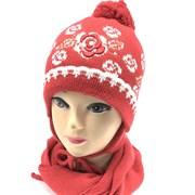 ambra комплект amb20 шапка двойная вязка+шарф (р.48-50)