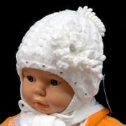 GRANS комплект A 516 шапка вязаная, подклад флис + шарф (р.38-40)