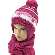Krystiano комплект, шапка двойная вязка+ шарф (р.52-54)