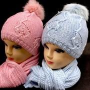 Ander комплект шапка двойн.вязк.+ шарф (р.48-50)