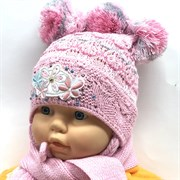 Politano комплект шапка одинар.вязк+шарф (р.44-46)
