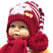 Politano комплект шапка двойная вязка+шарф (р.44-46)
