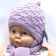 GRANS комплект A 314 шапка двойная вязка+шарф (р.38-40)