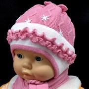 GRANS комплект, шапка двойная вязка+шарф (р.40-42)