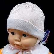 GRANS шапка N142 вязаная, подклад хлопок (р.36-38)