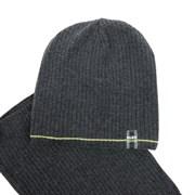AGBO комплект 1899 GAWIN шапка на х/б подкладе + снуд (р.48-50) цвет графит