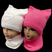 AGBO комплект 1520 LENA шапка подклад хлопок +снуд (р.48-50)