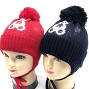 ambra шапка amb13 для девочки подкл.флис (р.44-46)